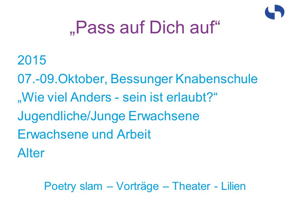 Poetry slam – Vorträge – Theater - Lilien