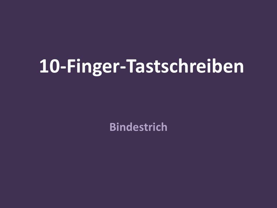 10-Finger-Tastschreiben