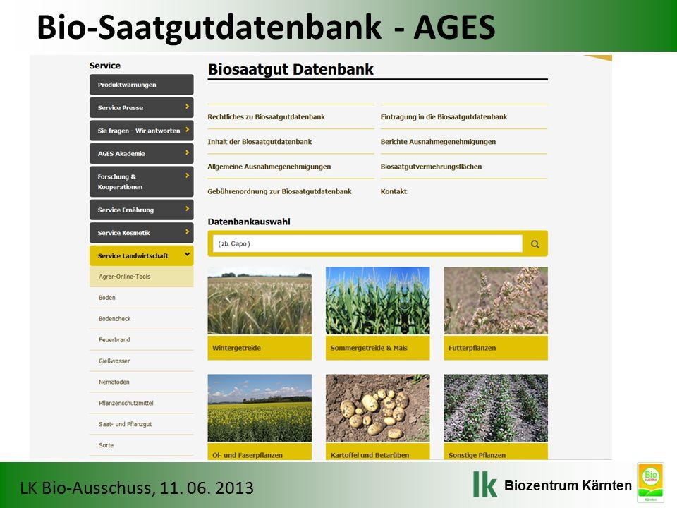 Bio-Saatgutdatenbank - AGES