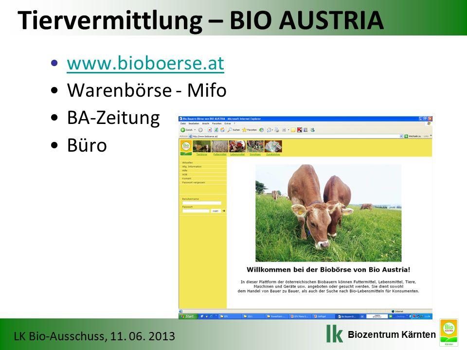 Tiervermittlung – BIO AUSTRIA
