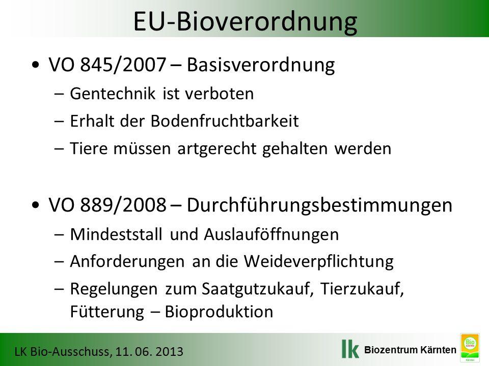 EU-Bioverordnung VO 845/2007 – Basisverordnung