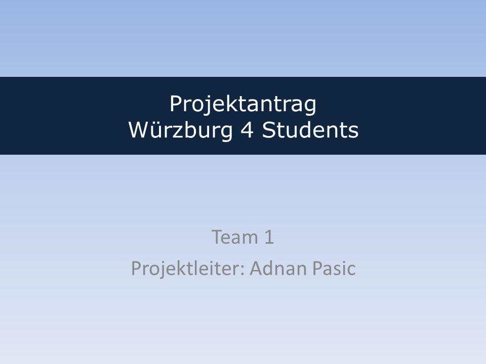 Projektantrag Würzburg 4 Students