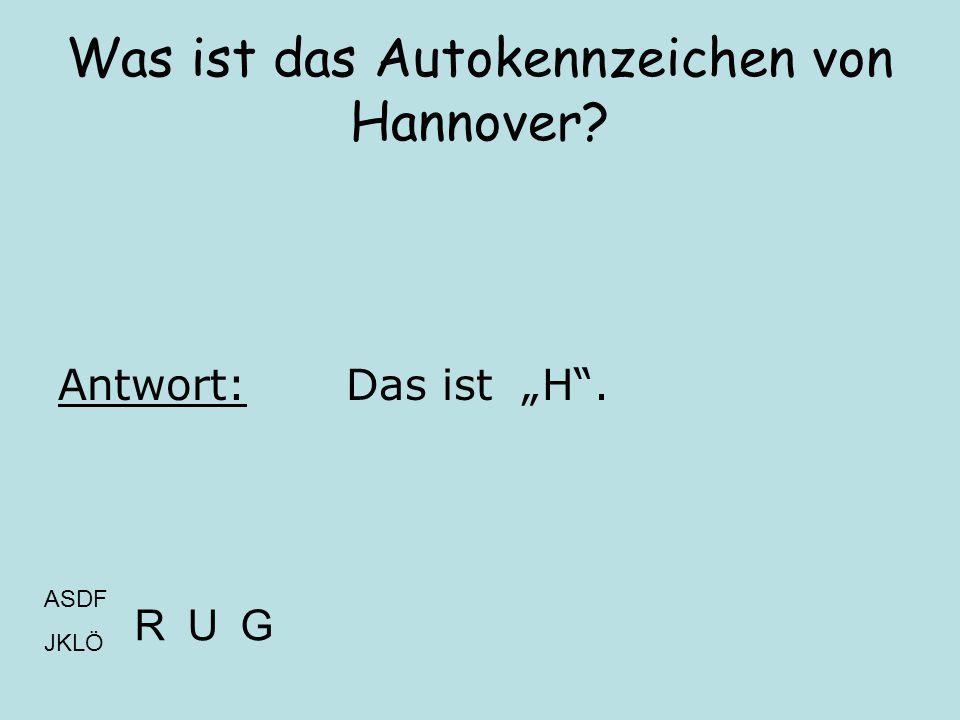 Was ist das Autokennzeichen von Hannover