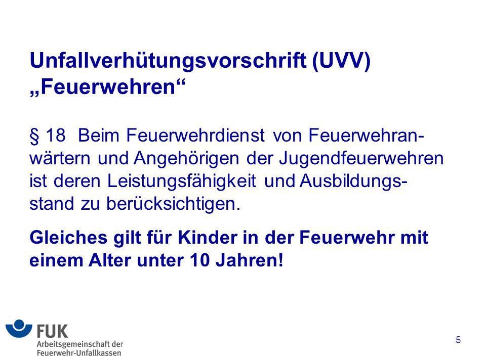 """Unfallverhütungsvorschrift (UVV) """"Feuerwehren"""