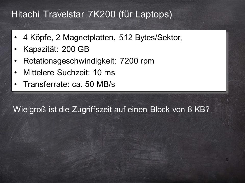 Hitachi Travelstar 7K200 (für Laptops)