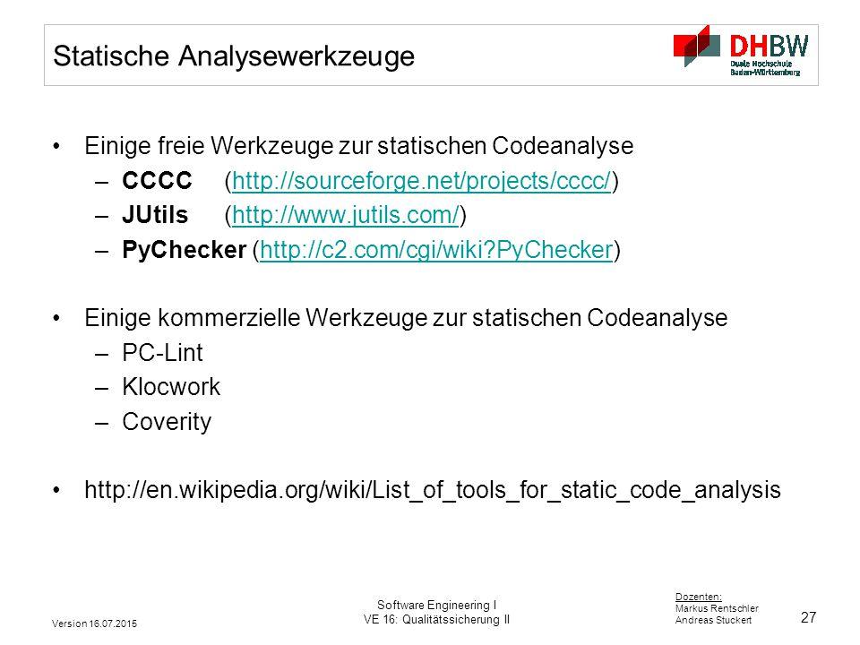 Statische Analysewerkzeuge
