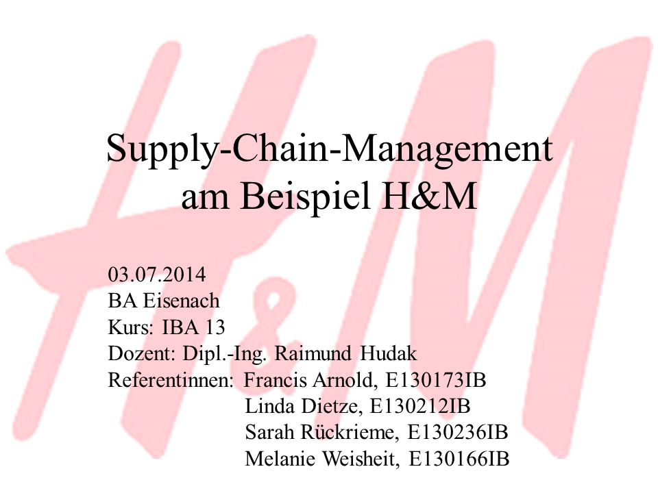 Supply-Chain-Management am Beispiel H&M
