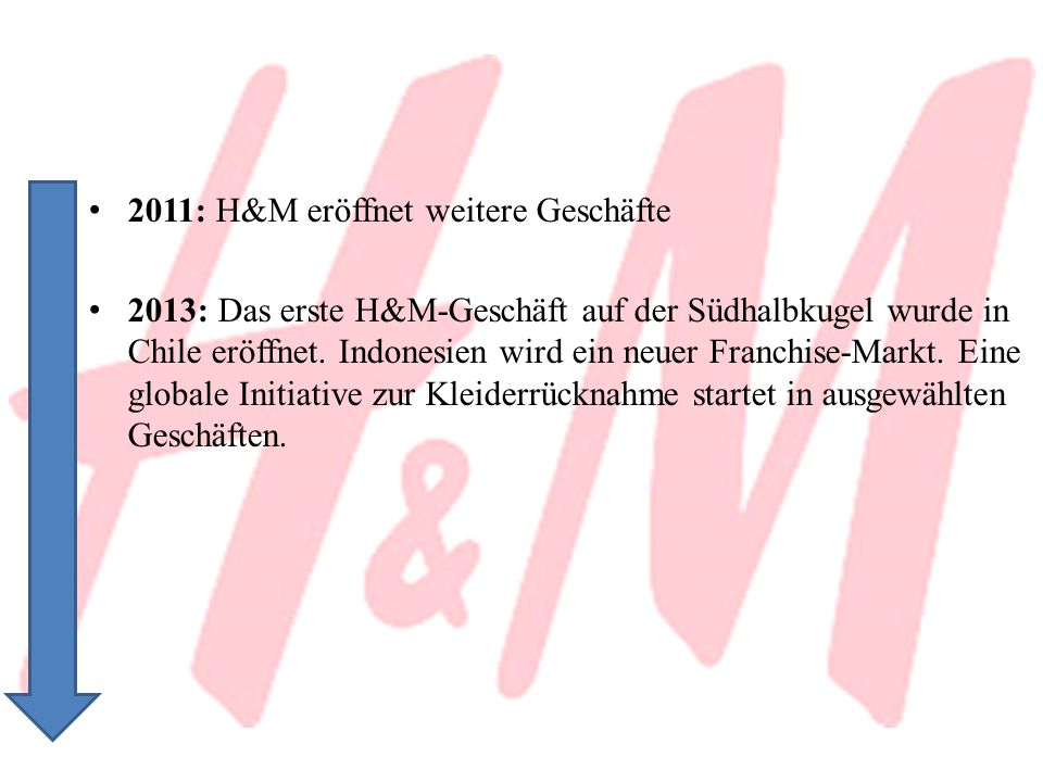 2011: H&M eröffnet weitere Geschäfte
