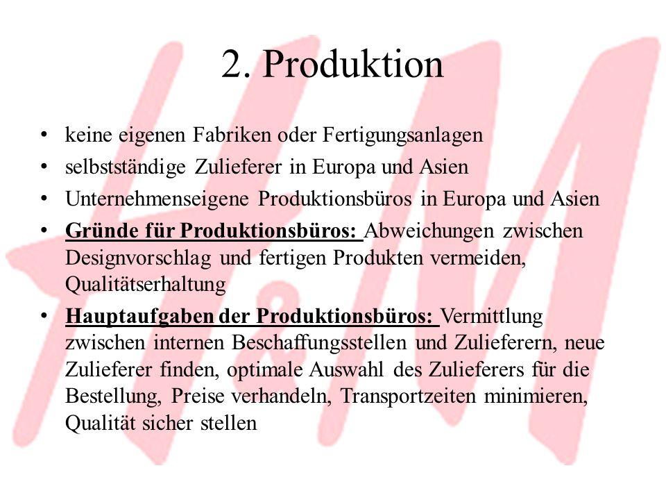 2. Produktion keine eigenen Fabriken oder Fertigungsanlagen