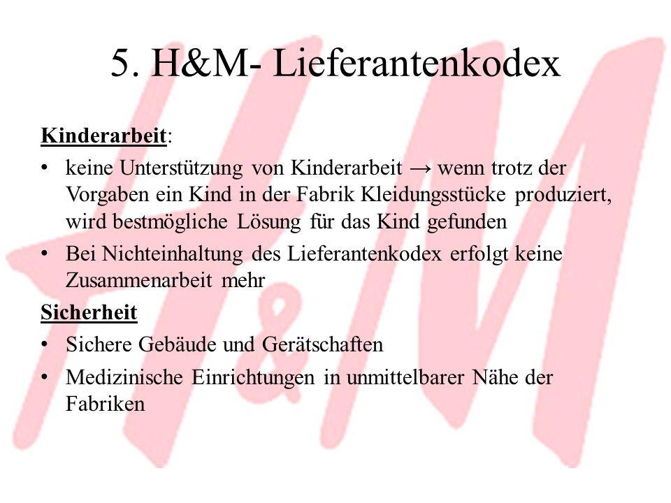 5. H&M- Lieferantenkodex