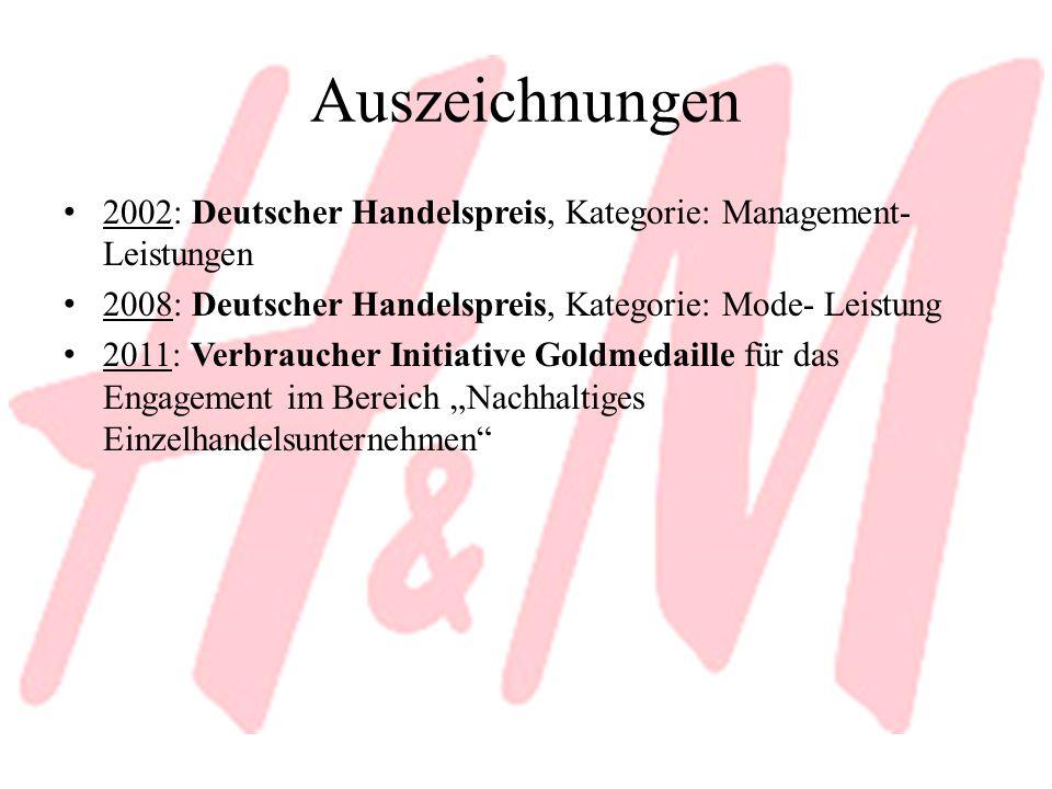 Auszeichnungen 2002: Deutscher Handelspreis, Kategorie: Management- Leistungen. 2008: Deutscher Handelspreis, Kategorie: Mode- Leistung.