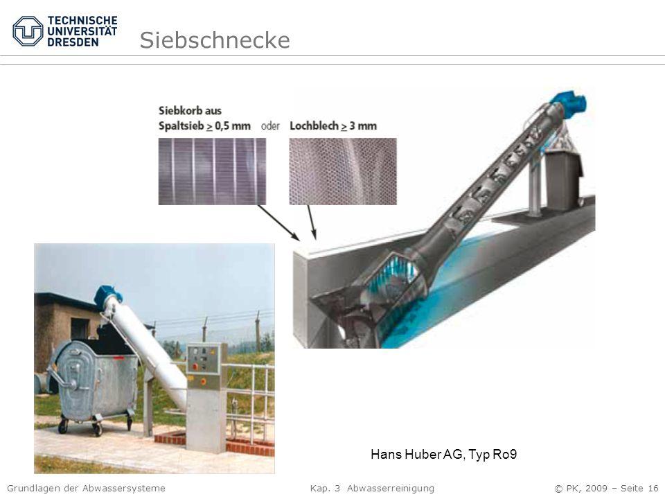 Siebschnecke Hans Huber AG, Typ Ro9