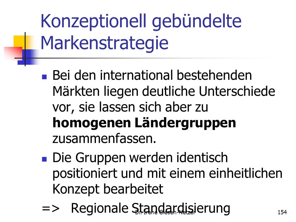 Konzeptionell gebündelte Markenstrategie