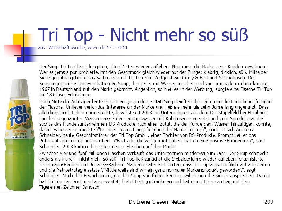 Tri Top - Nicht mehr so süß aus: Wirtschaftswoche, wiwo.de 17.3.2011