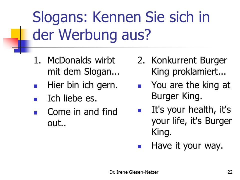 Slogans: Kennen Sie sich in der Werbung aus
