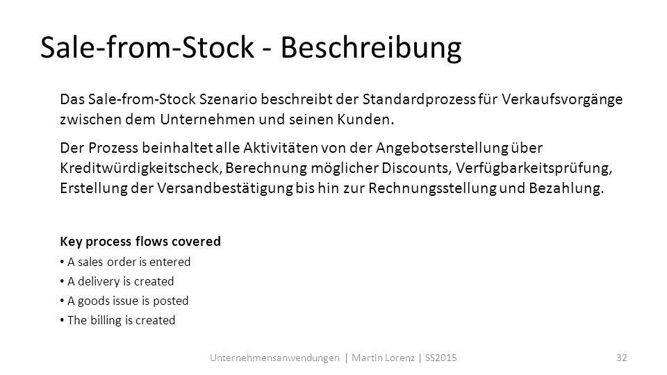 Sale-from-Stock - Beschreibung