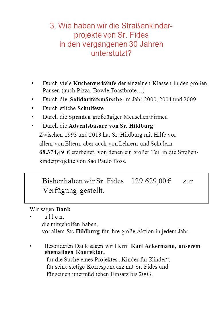 Bisher haben wir Sr. Fides 129.629,00 € zur Verfügung gestellt.