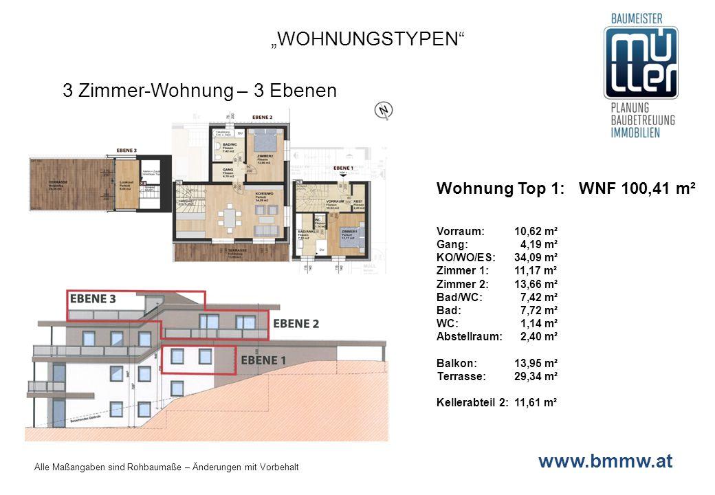 3 Zimmer-Wohnung – 3 Ebenen