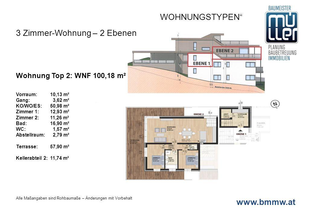 3 Zimmer-Wohnung – 2 Ebenen