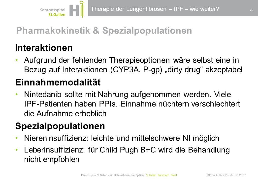 Pharmakokinetik & Spezialpopulationen