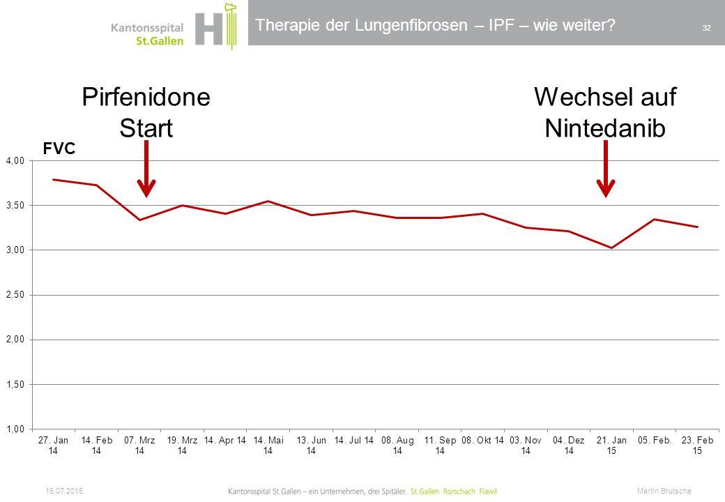 Pirfenidone Start Wechsel auf Nintedanib FVC 17.04.2017
