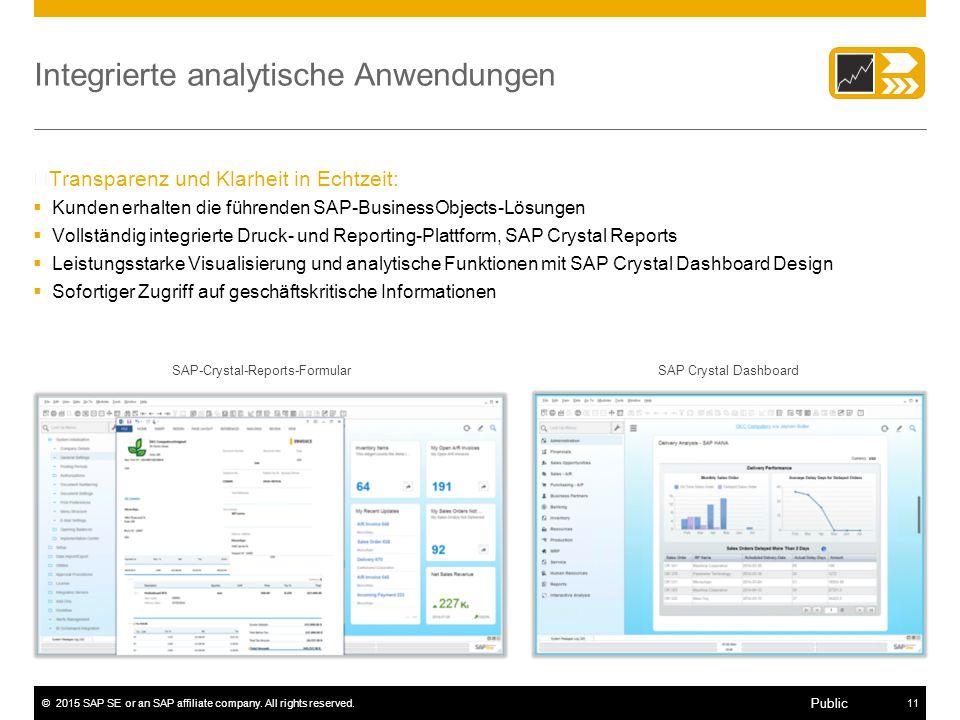 Integrierte analytische Anwendungen
