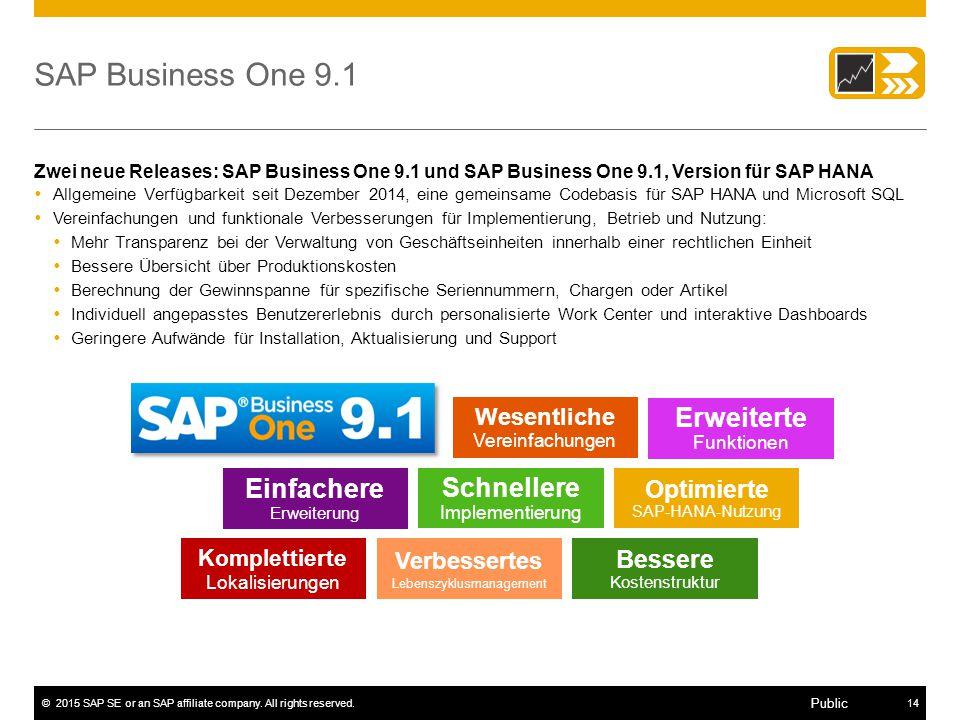 SAP Business One 9.1 Erweiterte Funktionen Einfachere Erweiterung