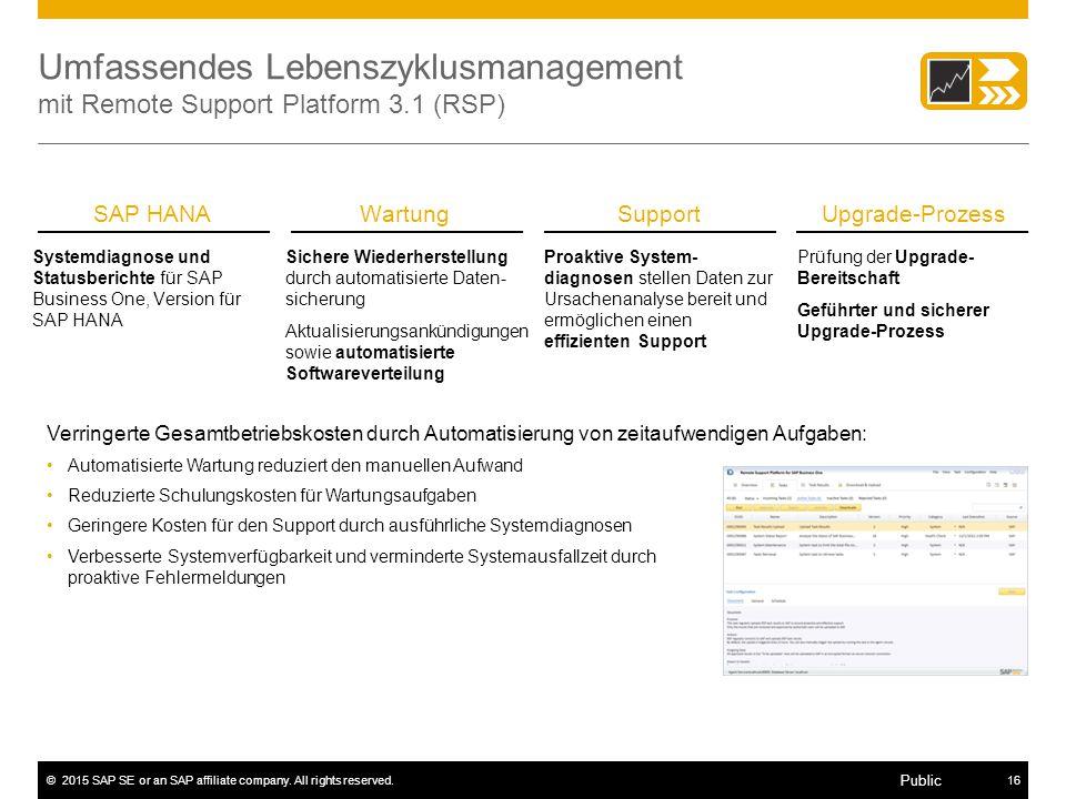 Umfassendes Lebenszyklusmanagement mit Remote Support Platform 3