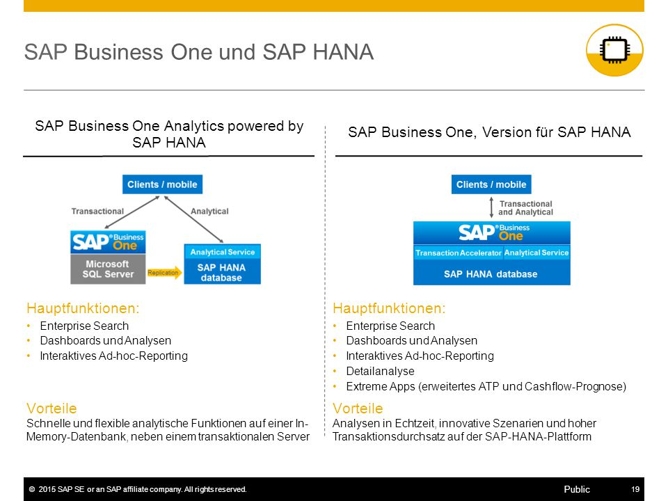 SAP Business One und SAP HANA