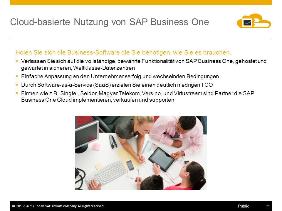 Cloud-basierte Nutzung von SAP Business One