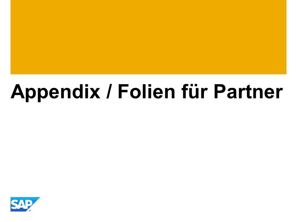 Appendix / Folien für Partner