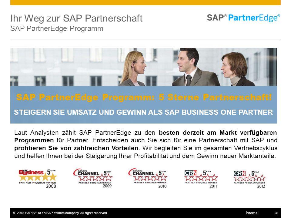 Ihr Weg zur SAP Partnerschaft SAP PartnerEdge Programm