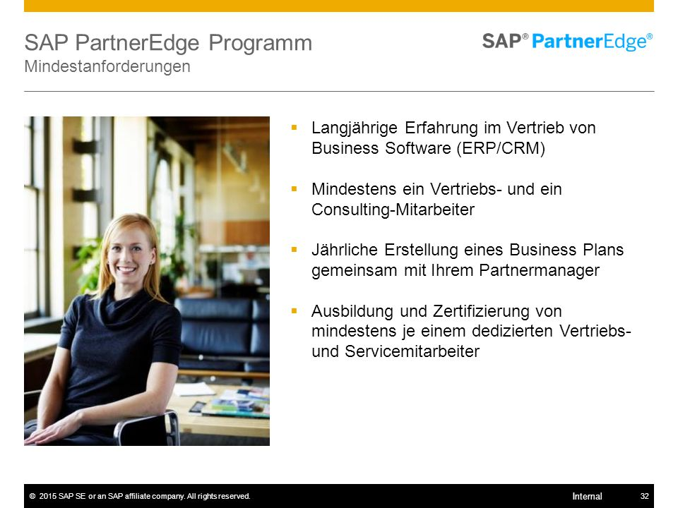 SAP PartnerEdge Programm Mindestanforderungen