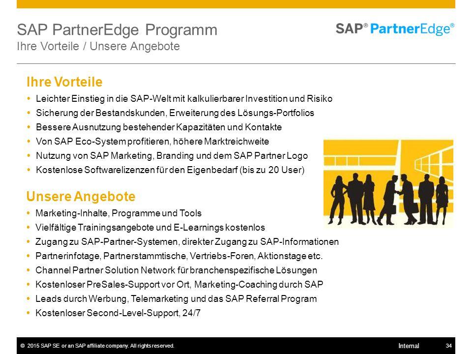 SAP PartnerEdge Programm Ihre Vorteile / Unsere Angebote