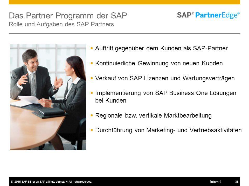 Das Partner Programm der SAP Rolle und Aufgaben des SAP Partners