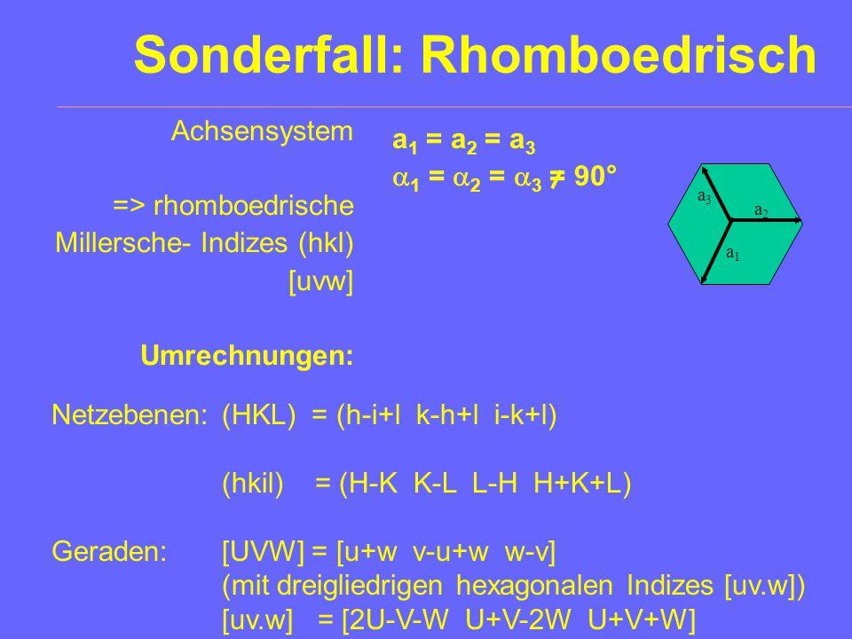 Sonderfall: Rhomboedrisch