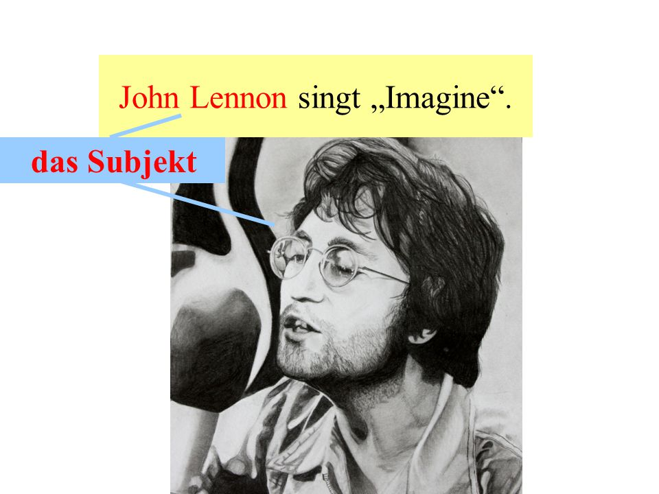 "John Lennon singt ""Imagine ."