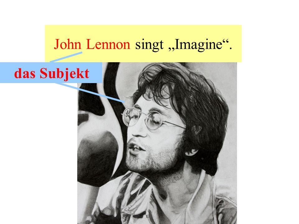"""John Lennon singt """"Imagine ."""