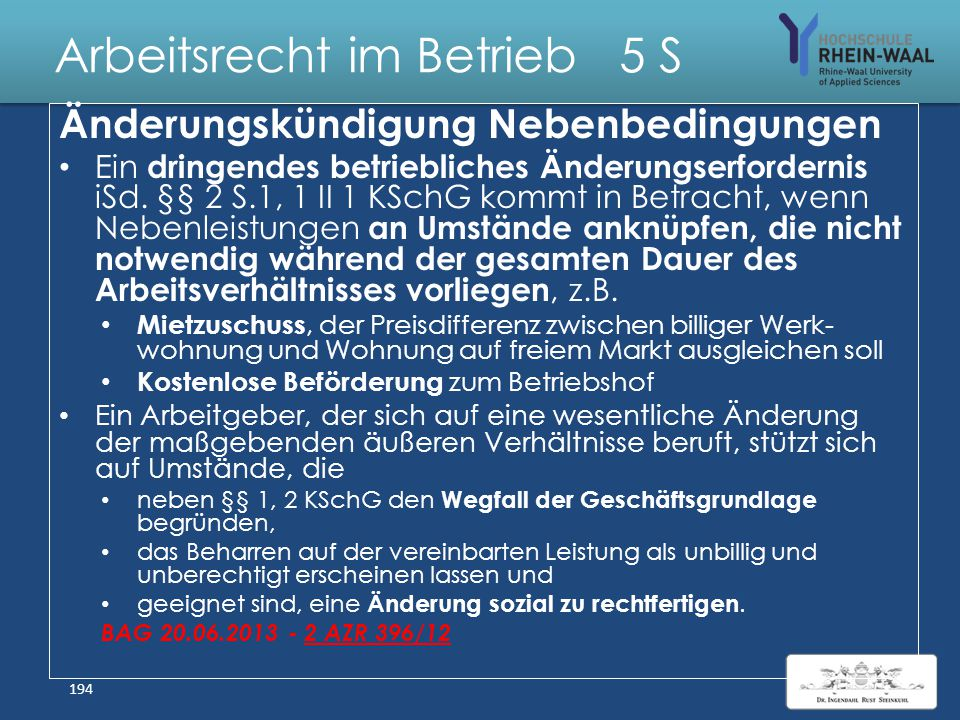 Arbeitsrecht im Betrieb 5 S