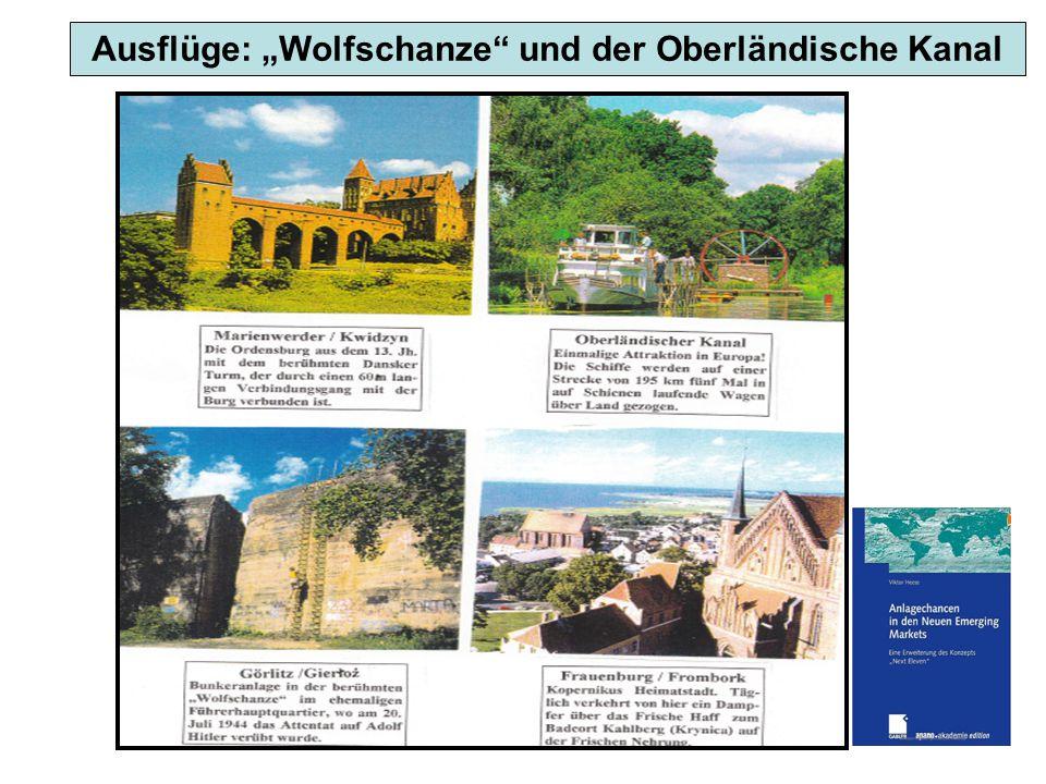 """Ausflüge: """"Wolfschanze und der Oberländische Kanal"""