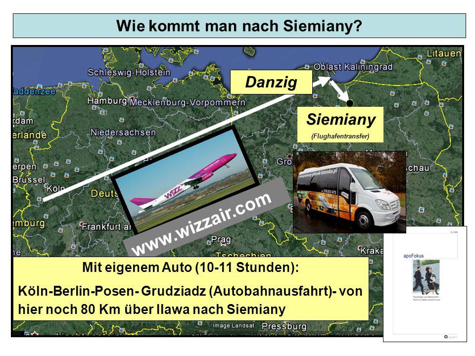 Wie kommt man nach Siemiany Mit eigenem Auto (10-11 Stunden):