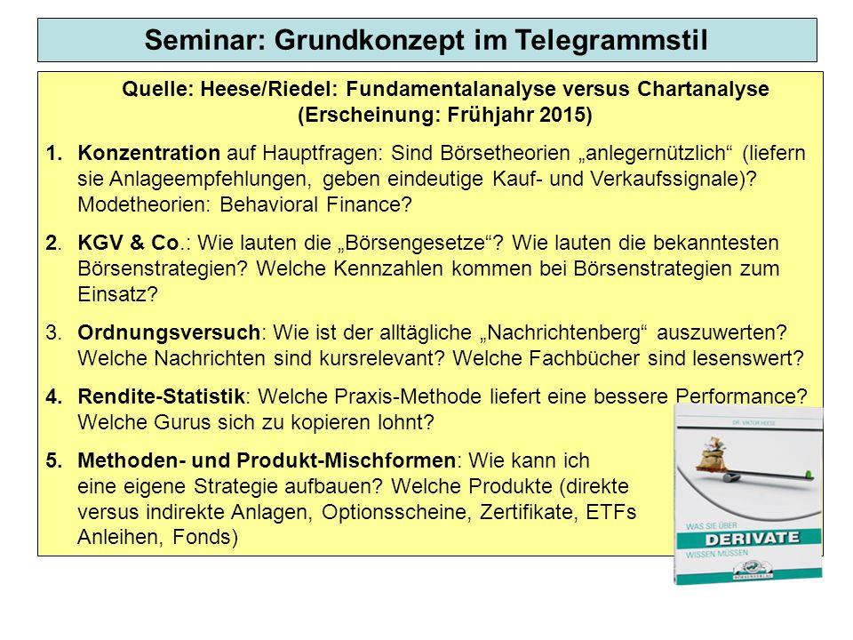Seminar: Grundkonzept im Telegrammstil
