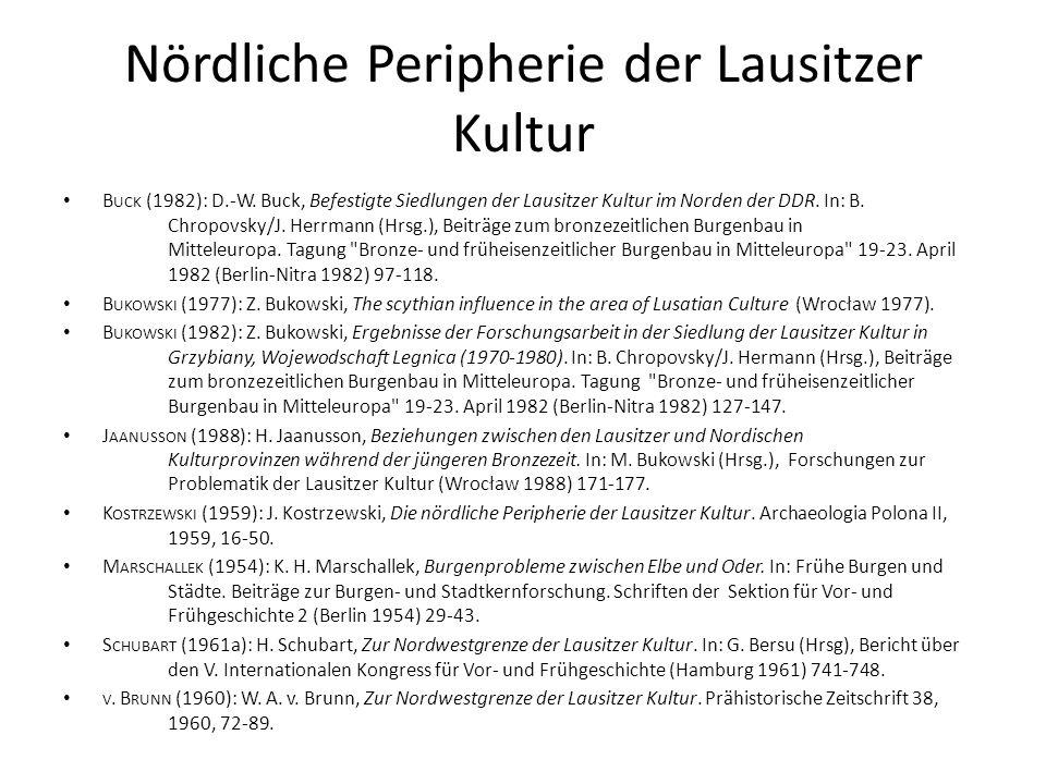 Nördliche Peripherie der Lausitzer Kultur