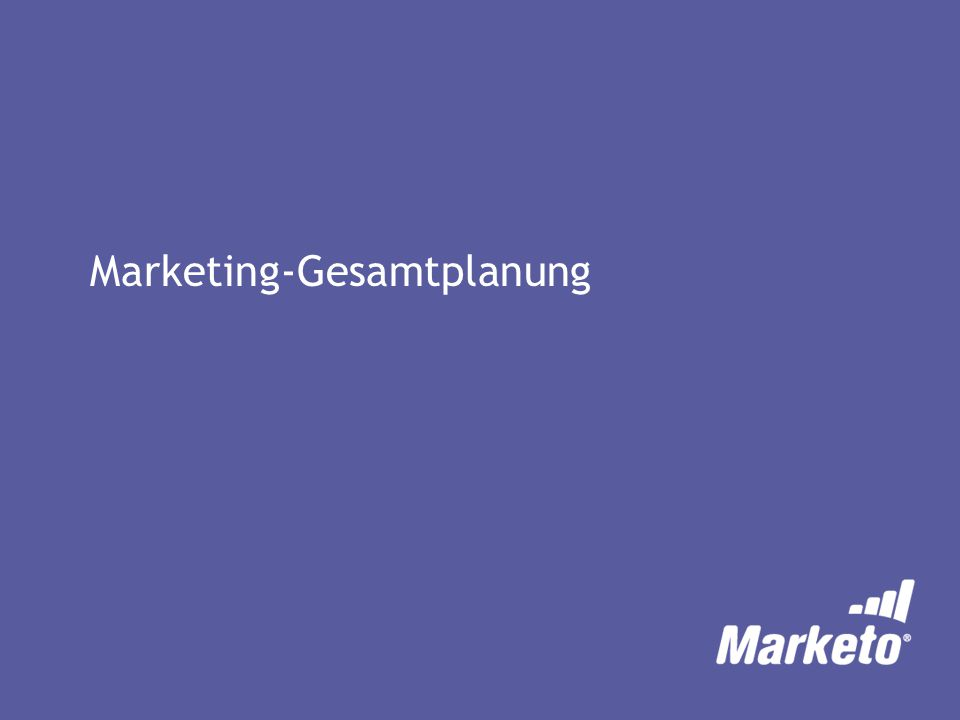 Marketing-Gesamtplanung