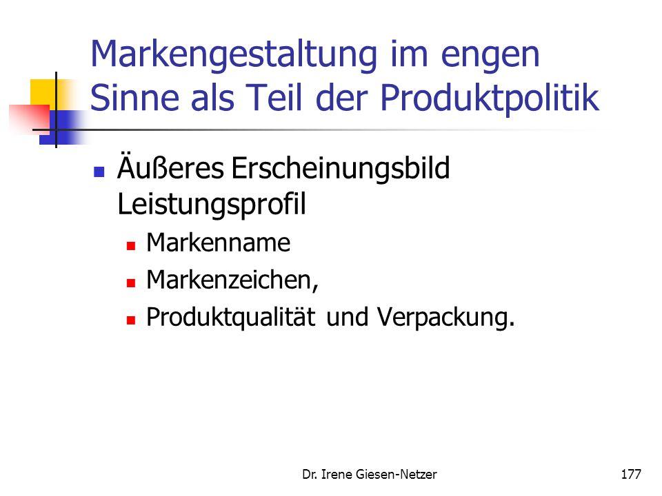 Markengestaltung im engen Sinne als Teil der Produktpolitik
