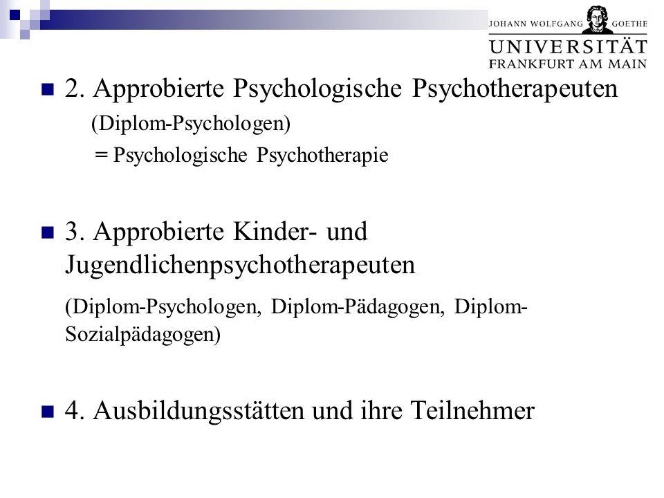 2. Approbierte Psychologische Psychotherapeuten