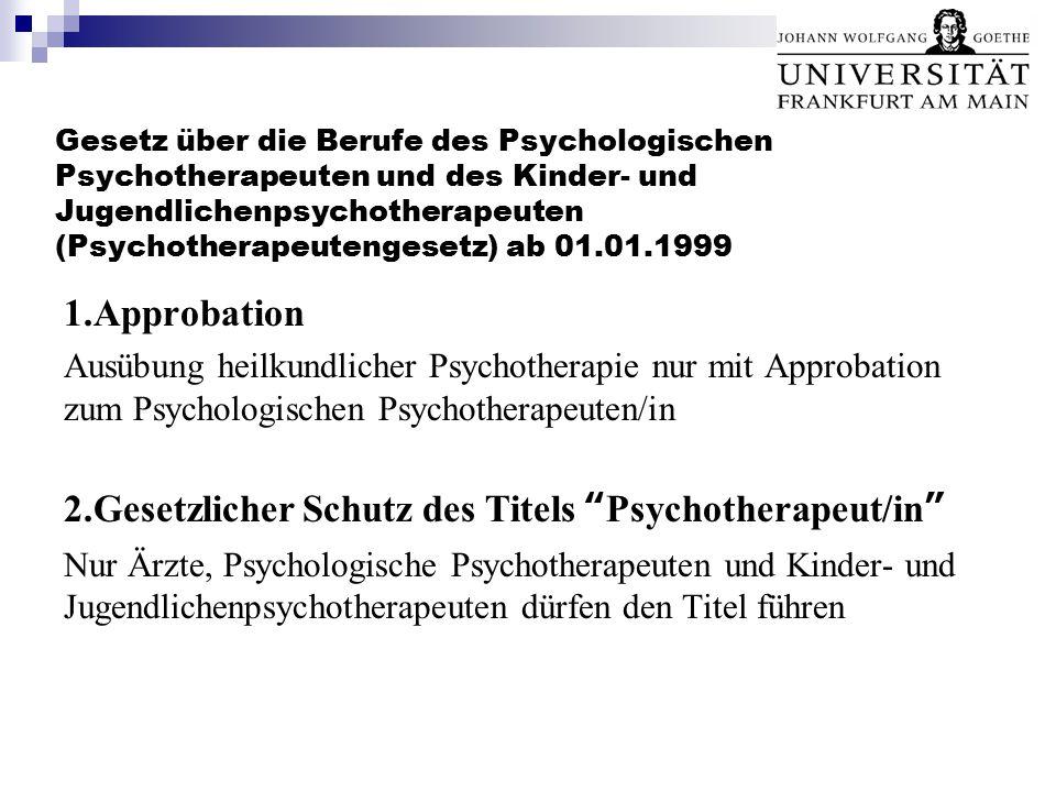 2.Gesetzlicher Schutz des Titels Psychotherapeut/in
