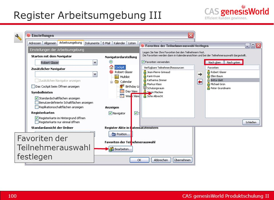 Register Arbeitsumgebung III