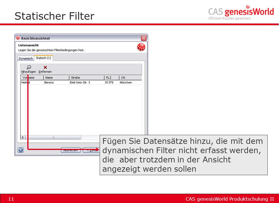 Statischer Filter