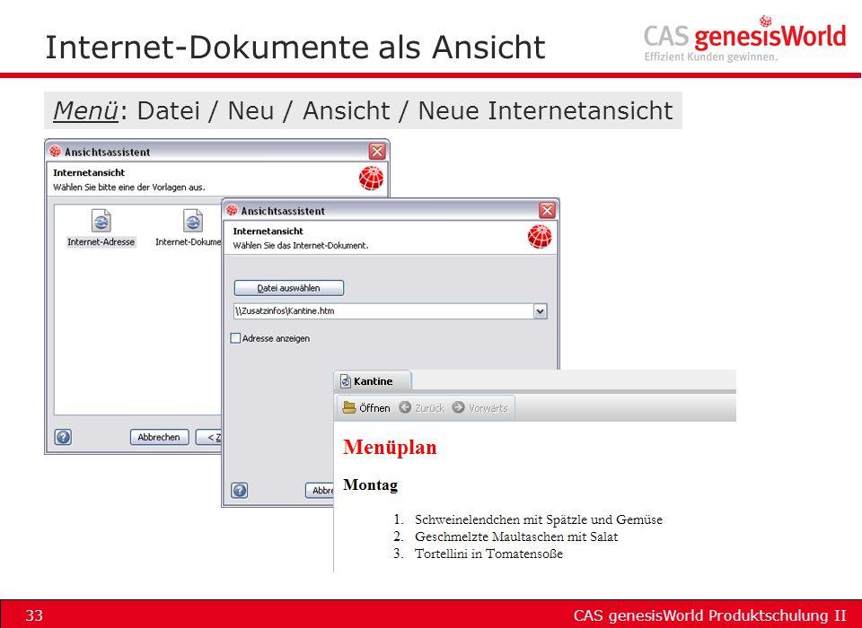 Internet-Dokumente als Ansicht